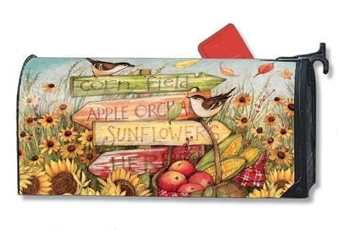 Signs of Fall Mailwraps Mailbox Cover