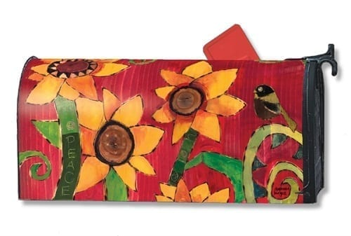 Peace Sunflower Mailwraps Mailbox Cover