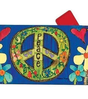 Peace Everywhere Mailbox Cover | Decorative Mailwraps | Mailbox Covers