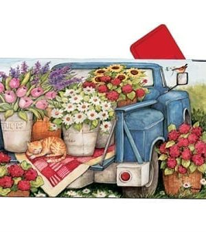 Flower Picking Time Mailbox Cover   Decorative Mailwraps   Mailbox Cover