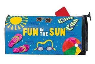Summertime Fun Mailbox Cover | Decorative Mailwraps | Mailbox Covers