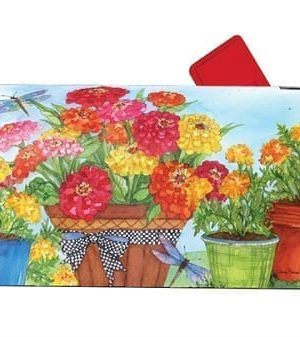 Marigolds and Zinnias Mailbox Cover | Mailwraps | Mailbox Covers