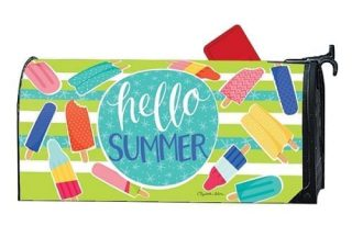 Ice Cream and Popsicles Mailbox Cover | Mailwraps | Mailbox Covers
