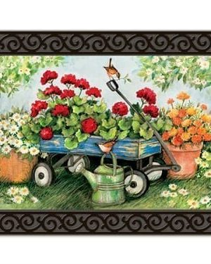 Geraniums by the Dozen Doormat | Doormats | Mats | Garden House Flags