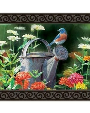 Garden Bluebird Doormat | Doormats | MatMates | Decorative Doormats