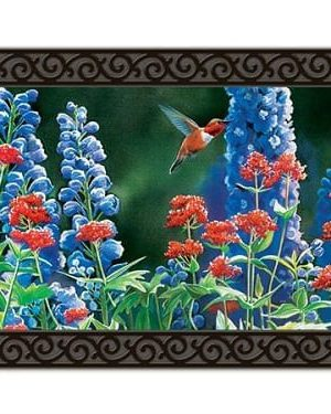 Hummingbird Flight Doormat | Doormats | MatMates | Garden House Flags