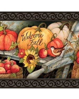 Welcome Fall Pumpkins Doormat | Decorative Doormats | MatMates