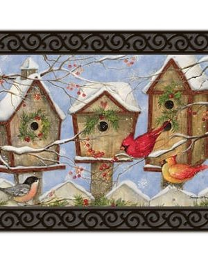 Christmas Birdhouse Doormat | Doormats | MatMate | Garden House Flags