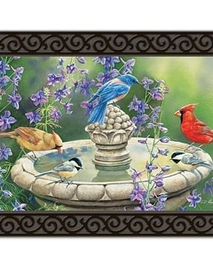 Birdbath Gathering Doormat | Doormats | MatMates | Decorative Doormats