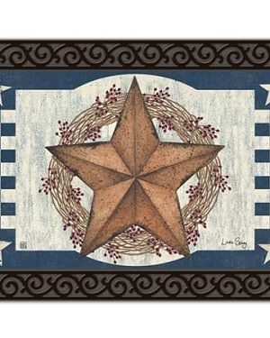 Blue Barn Star Doormat | Doormats | MatMates | Decorative Doormats