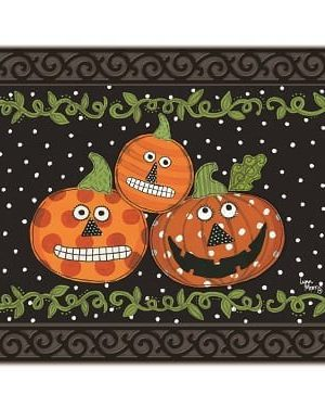 Pumpkin Faces Doormat | Doormats | MatMates | Halloween Doormats