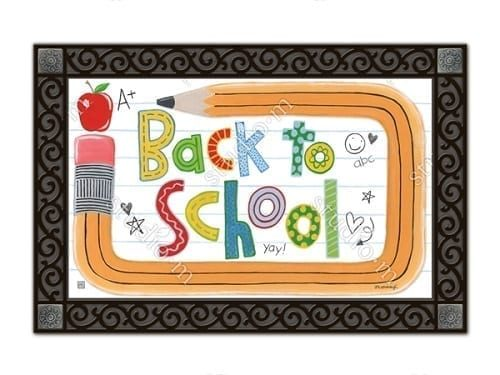School is Cool Doormat | Doormats | MatMates | Garden House Flags