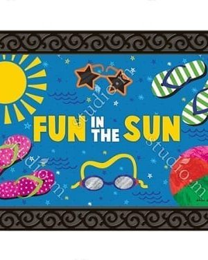 Summertime Fun Doormat | Doormats | MatMates | Decorative Doormats