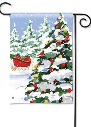 Sleigh Stop Garden Flag | Christmas Flags | Holiday Flags | Yard Flags