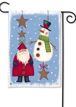 Folky Friends Garden Flag | Christmas Flags | Holiday Flags | Winter Flags