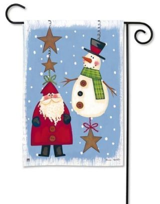 Folky Friends Garden Flag | Christmas Flags | Holiday Flags | Cool Flags