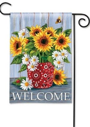 Bandana Sunflowers Garden Flag | Fall Flags | Welcome Flag | Floral Flag