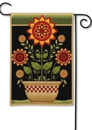 Primitive Sunflowers Garden Flag | Fall Flags | Floral Flags | Garden Flags