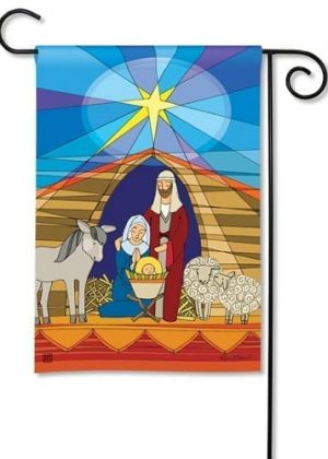 Stained Glass Nativity Garden Flag | Christmas Flags| Yard Flags | Flags