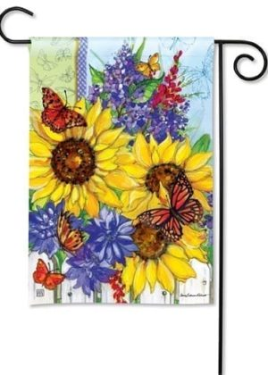 Butterflies and Blossoms Flag | Garden Flags | Flag | Garden House Flags