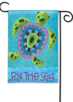 Turtle by the Sea Garden Flag | Nautical Flags | Summer Flag | Yard Flags