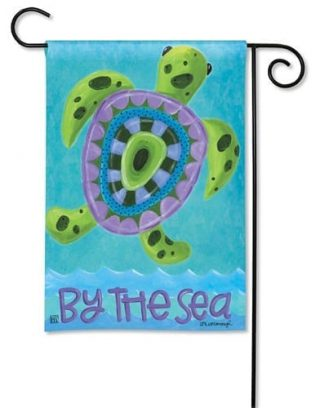 Turtle by the Sea Flag | Decorative Garden Flags | Garden House Flags