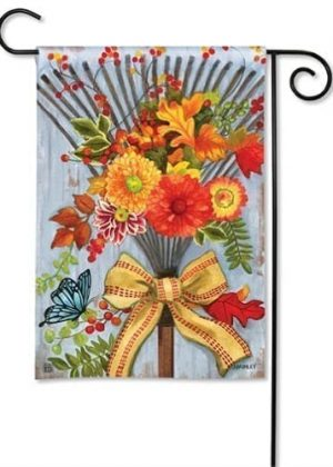 Time to Rake Garden Flag | Fall Flags | Floral Flags | Garden Flags | Flags