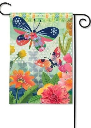 Butterflies in Flight Flag | Decorative Garden Flags | Garden House Flags
