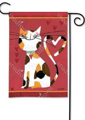 Sweet Kitty Garden Flag | Valentine's Day Flags | Animal Flags | Yard Flags