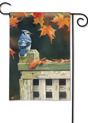 Autumn Blue Jay Garden Flag | Fall Flags | Bird Flags | Cool Flags