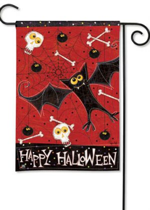 Bats and Bones Garden Flag | Halloween Flags | Cool Flags | Garden Flag