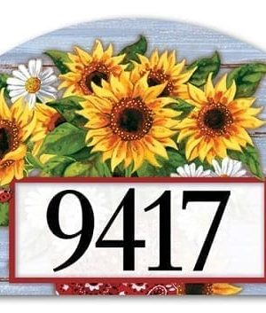 Bandana Sunflowers Yard Sign | Address Plaques | Garden House Flags