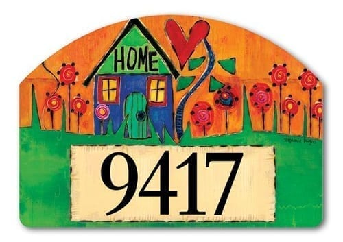 Plant Happiness Yard Sign | Address Plaques | Garden House Flags