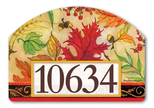 Blaze of Glory Yard Sign | Decorative Address Plaque | Garden House Flag