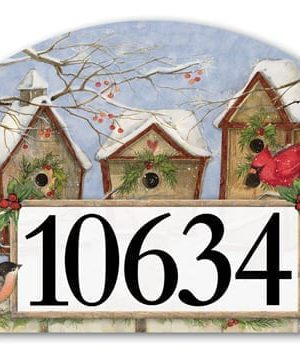 Christmas Birdhouse Yard Sign | Address Plaques | Yard Sign | Yard Decor