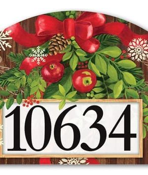 Mountain Cabin Sled Yard Sign | Address Plaques | Garden House Flags