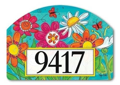 Welcome Blooms Yard Sign | Address Plaques | Garden House Flags