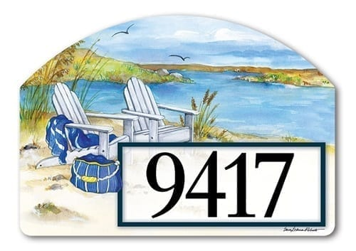 Waterside Yard Sign | Decorative Address Plaques | Garden House Flags
