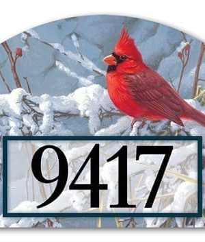 Cardinal in Snow Yard Sign | Address Plaques | Yard Signs | Garden Decor