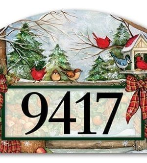 Winter Gathering Yard Sign | Address Plaques | Garden Decor | Yard Signs