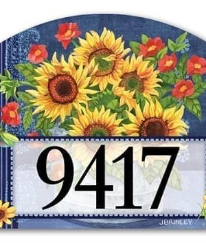 Denim Sunflowers Yard Sign | Address Plaque | Yard Signs | Garden Decor