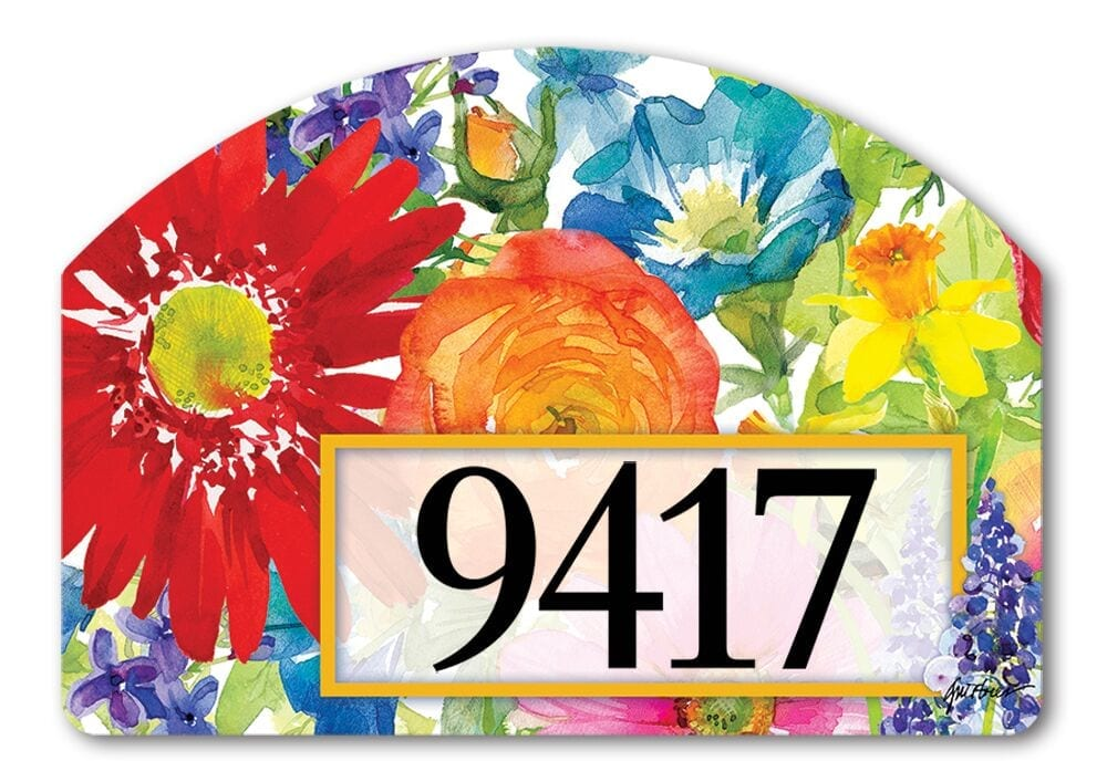 Splash of Color Yard Sign | Address Plaques | Garden House Flags