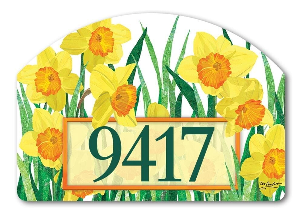 Daffodils in Bloom Yard Sign | Address Plaques | Garden House Flags