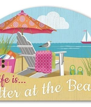 Better at the Beach Yard Sign | Decorative Yard Sign | Garden House Flag