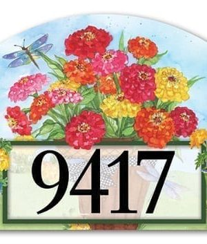 Marigolds and Zinnias Yard Sign | Address Plaques | Yard Signs