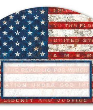 Pledge of Allegiance Yard Sign | Address Plaques | Garden House Flags