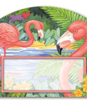 Flamingo Pair Yard Sign | Address Plaques | Garden Decor | Yard Signs