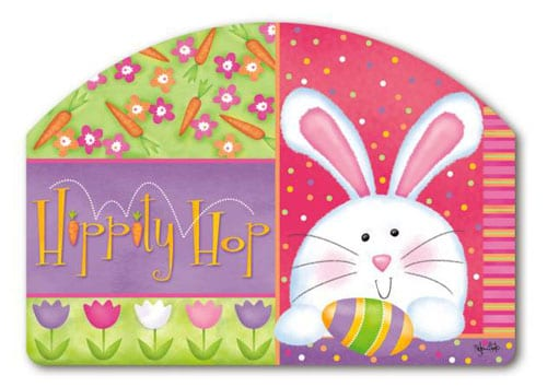 Hippity Hop Yard Sign | Decorative Yard Signs | Garden House Flags
