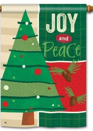 Joy and Peace House Flag | Christmas Flags | Holiday Flags | Winter Flags