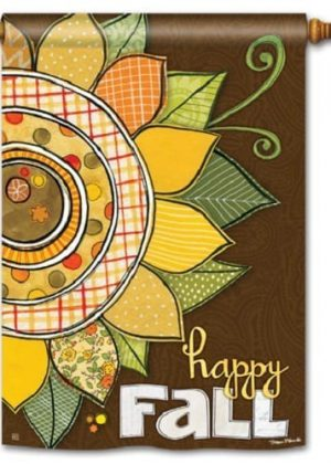 Happy Fall House Flag | Fall Flags | Floral Flags | Garden Flags | Flags